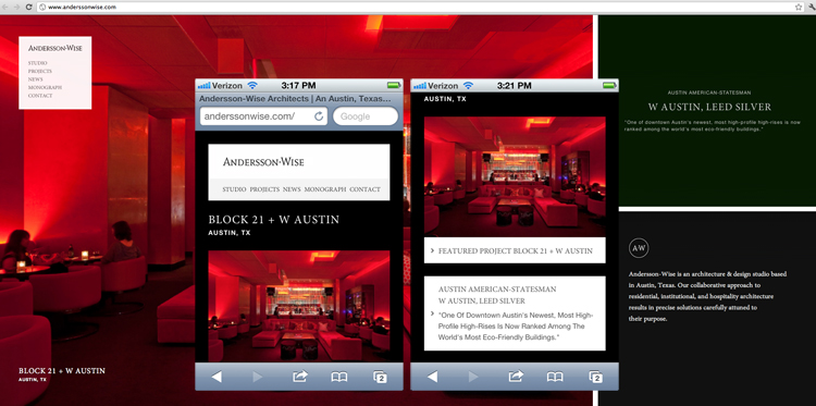 Example of stacking containers with responsive design