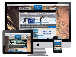 International Surfing Association Responsive Design Website