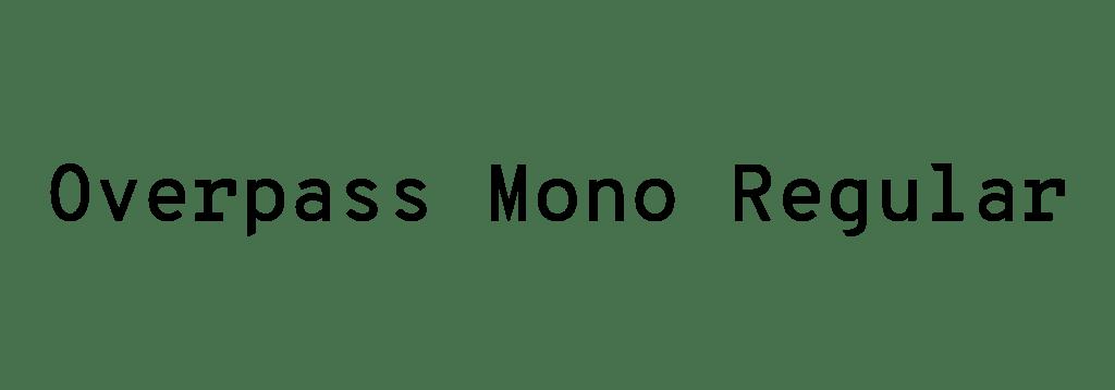 overpassmonoregular